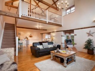 Living Area with mezzanine bedroom
